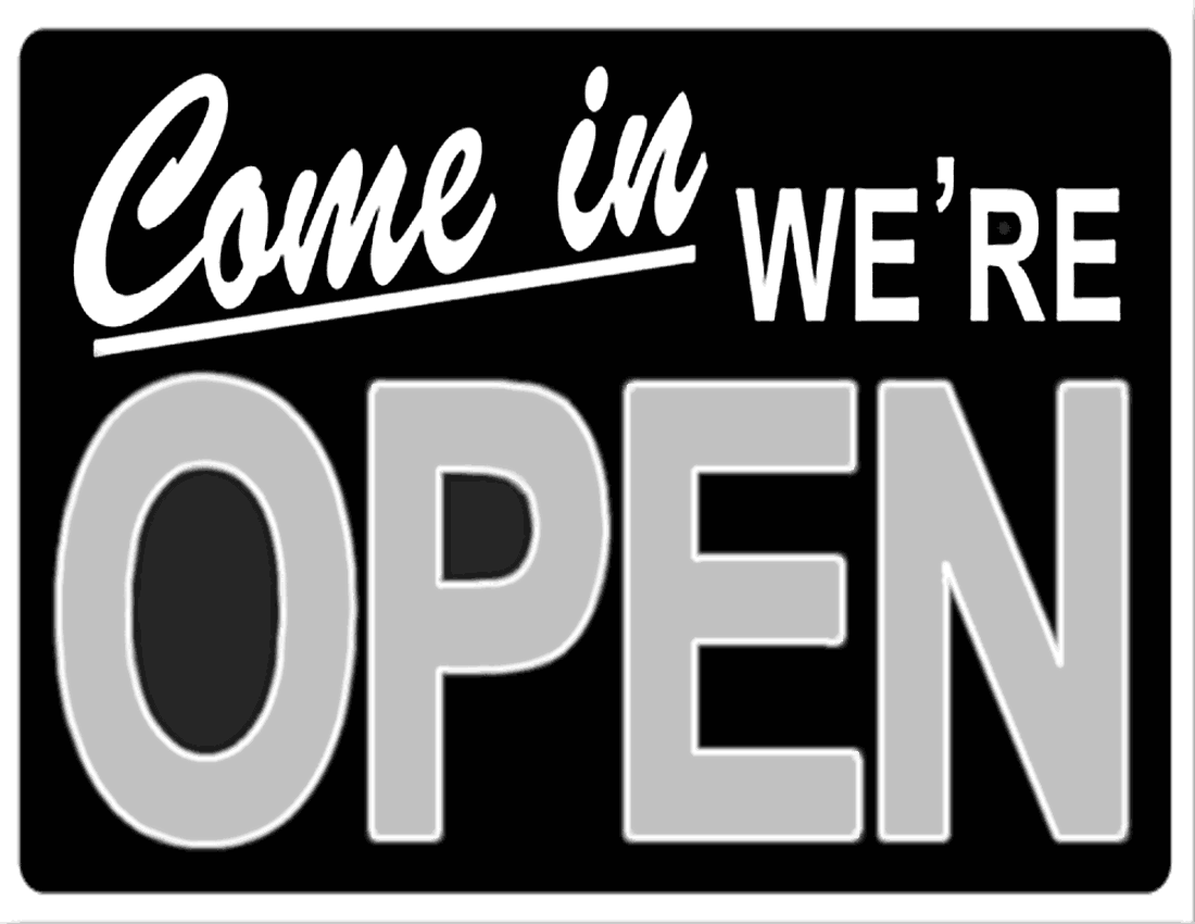 Business Open Sign Green Page Frames