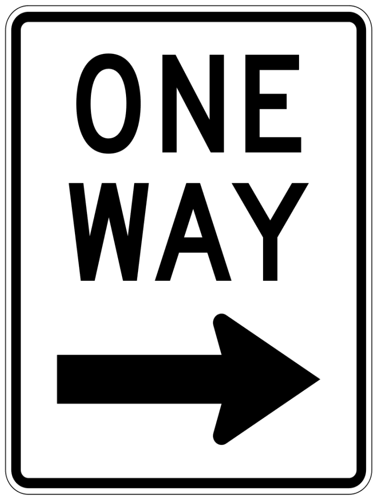one way sign coloring pages - photo#1