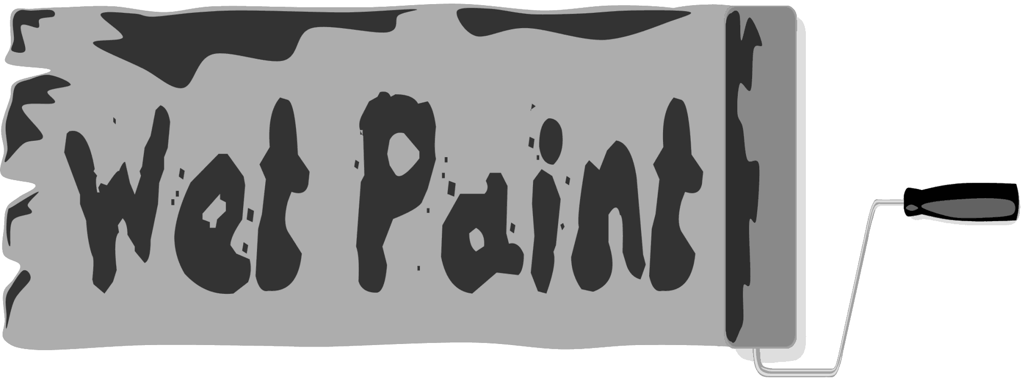 Wet Paint Sign 2 Pages