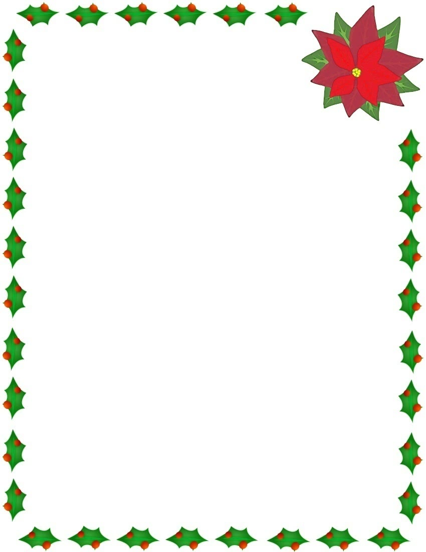 christmas holly and poinsettia border page_framesholidaychristmaschristmas_holly_and_poinsettia_borderjpghtml