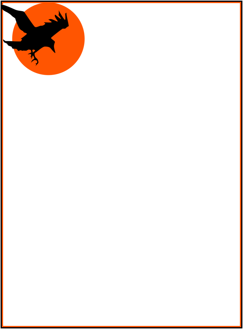 halloween crow page frame - /page_frames/holiday/halloween