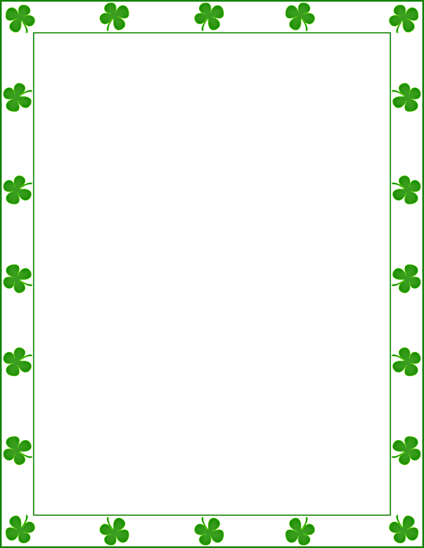 saint patrick shamrock border   page frames  holiday  st irish clip art graphics irish clip art for free