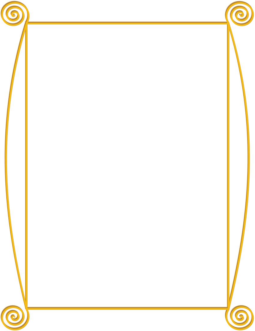 Golden Spiral Frame Page Frames Old Ornate Borders