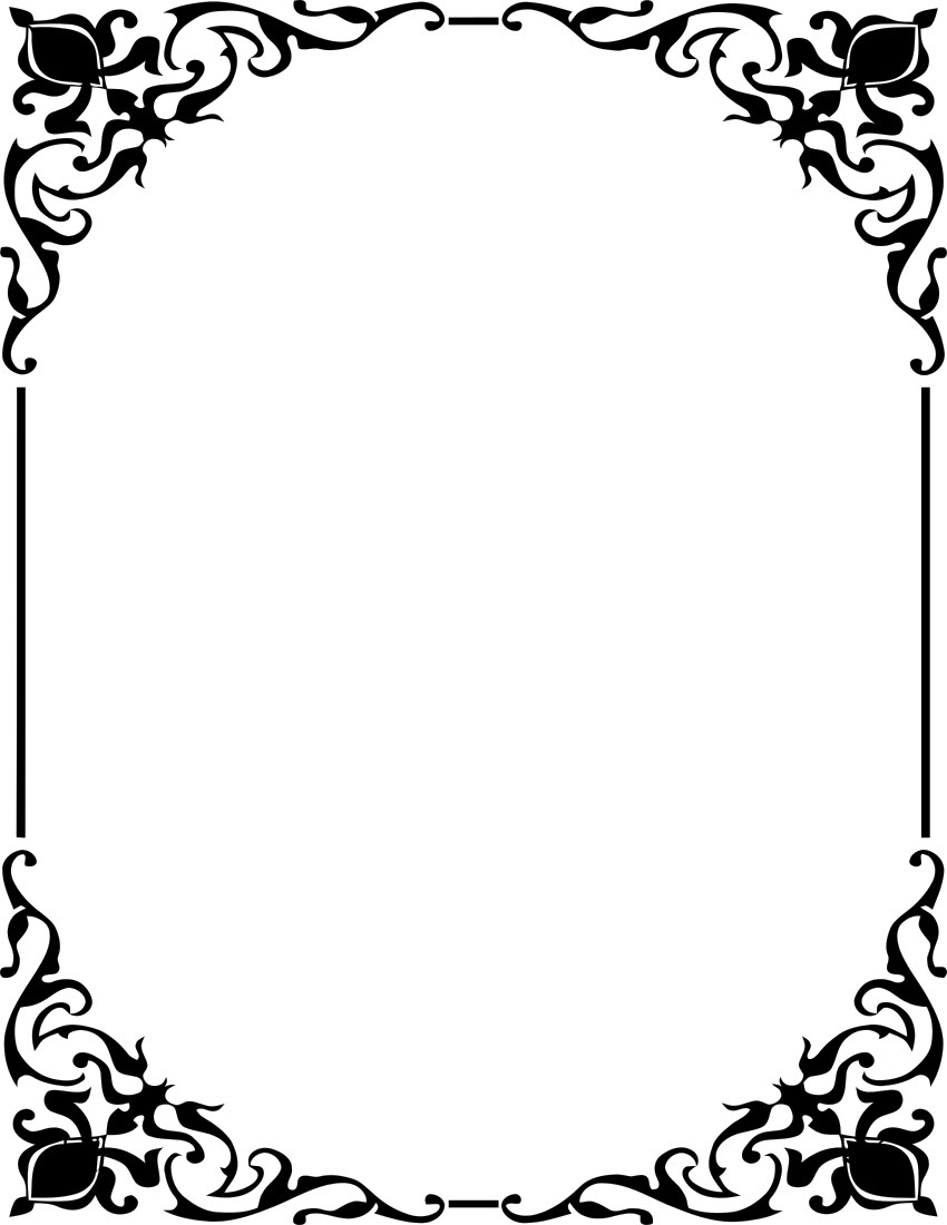Ornamental Frame Border Page Frames Old Ornate Borders