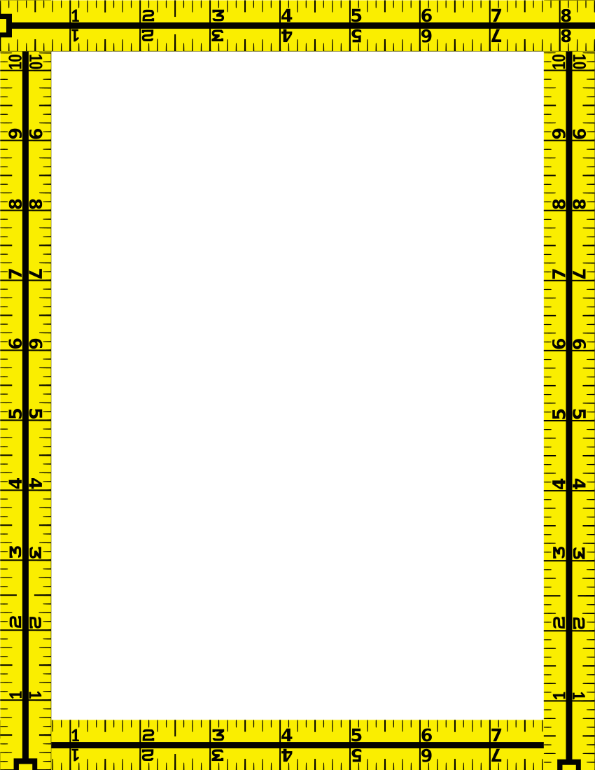 Tape Measure Border Page