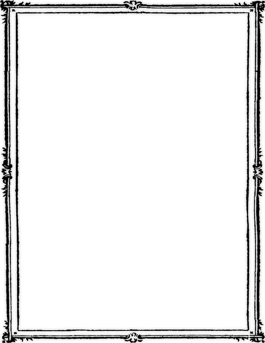 Simple Elegant Line Art : Simple double border page frames ornamental