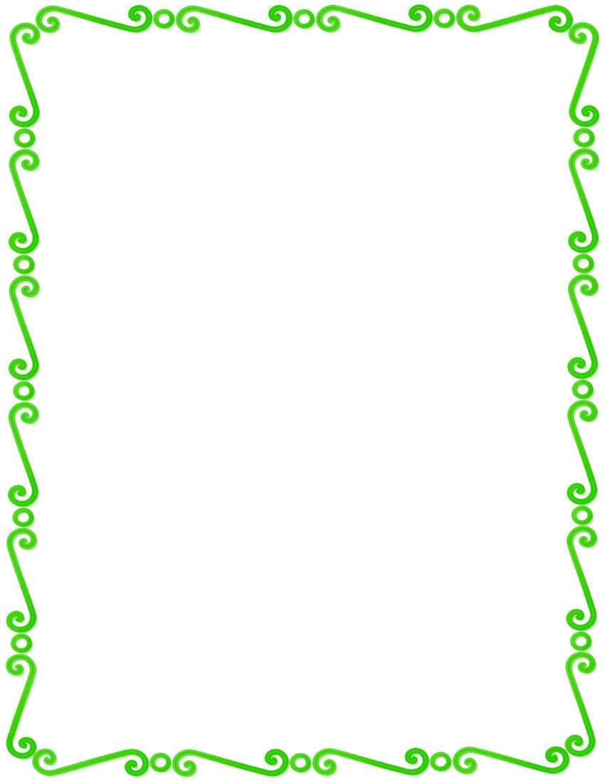 green spirals border page frames spiral border green. Black Bedroom Furniture Sets. Home Design Ideas