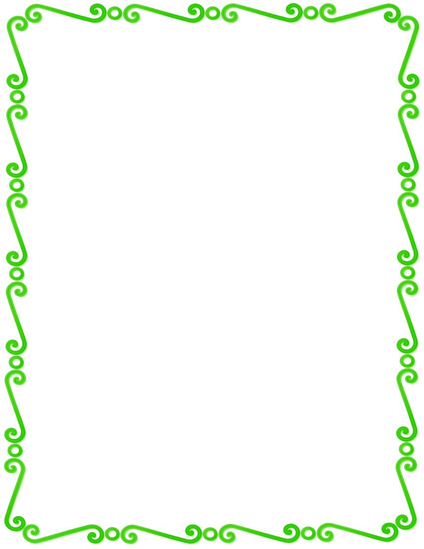 Green_spirals_border.png on Spiral Swirl Clip Art Borders