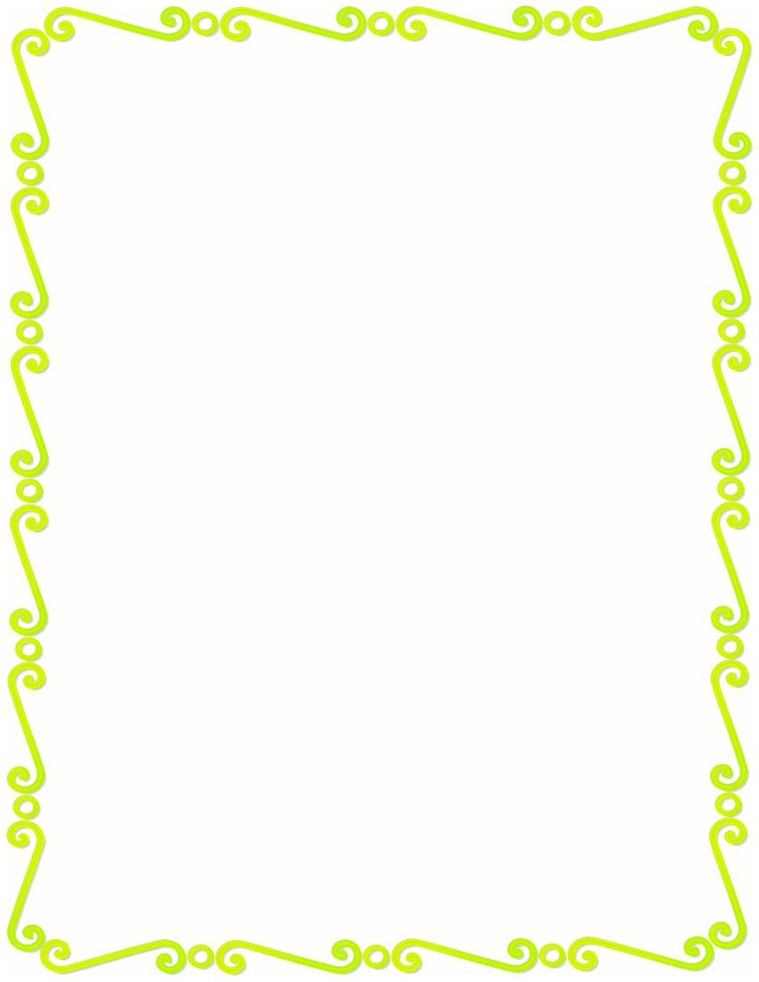 lemon lime spirals border page frames spiral border rh wpclipart com