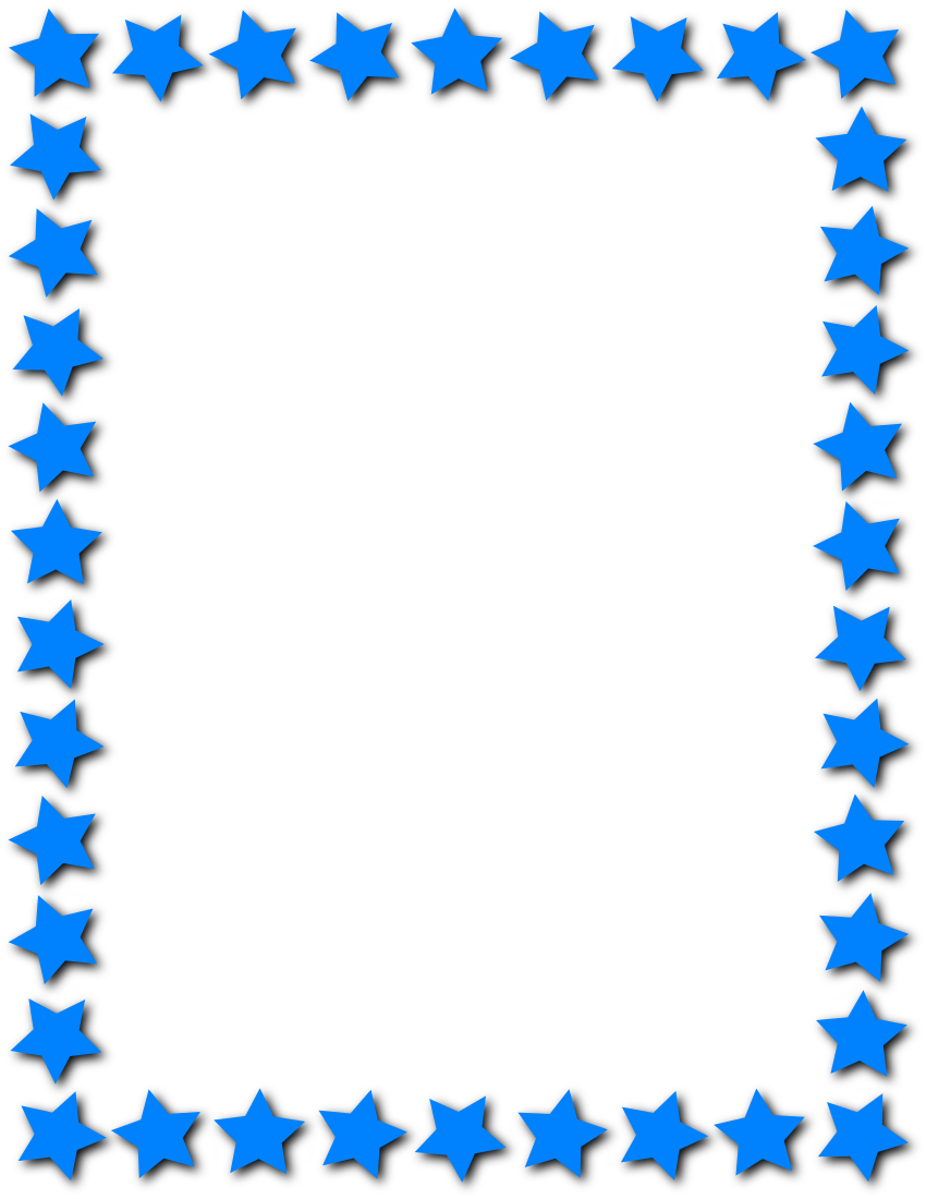 Star Frame Blue Page Frames Star Border Star Frame Blue