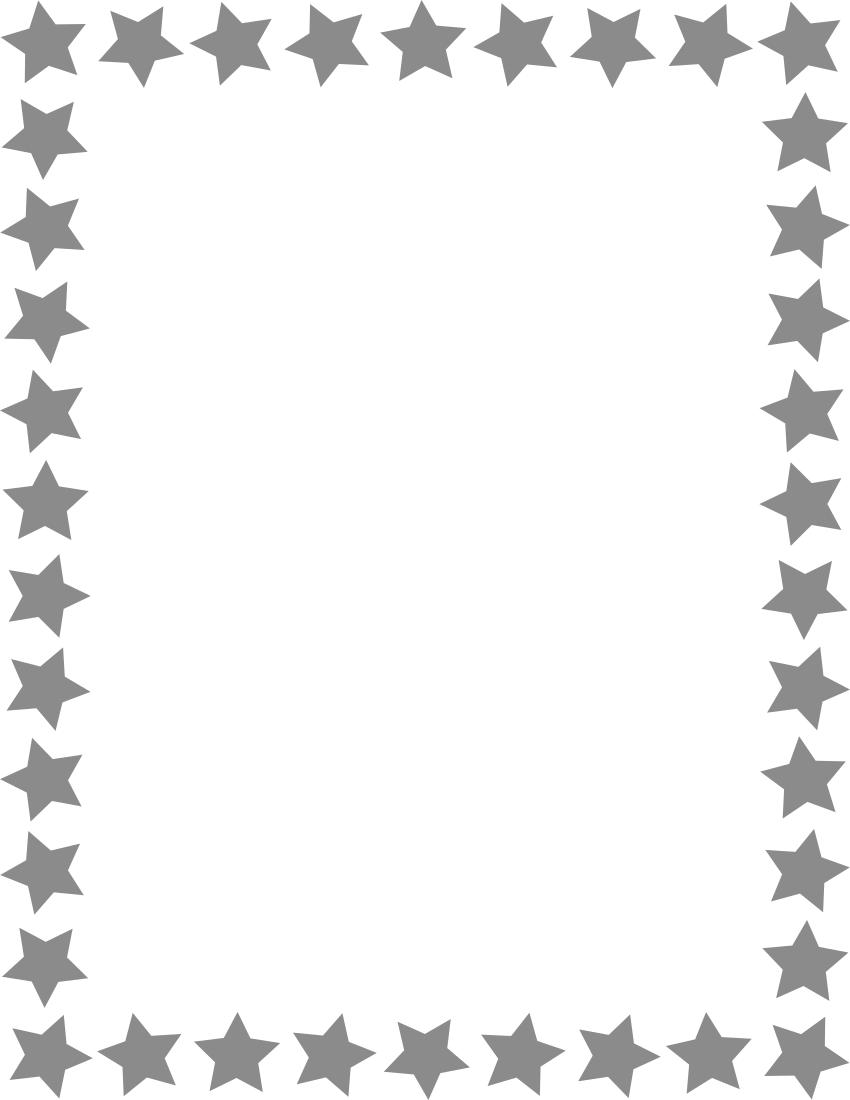 star frame gray   page frames  star border  star frame gray clipart border images clipart border