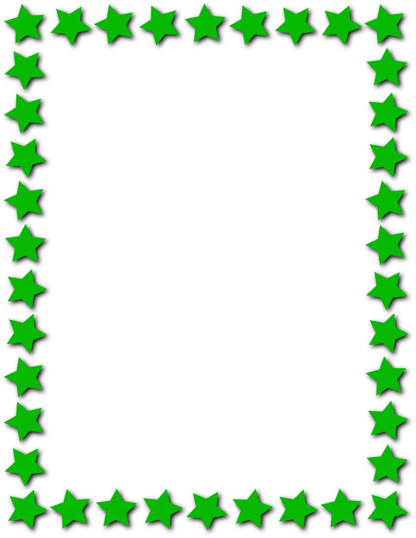 Star Frame Green pageframesstarborderstarframe