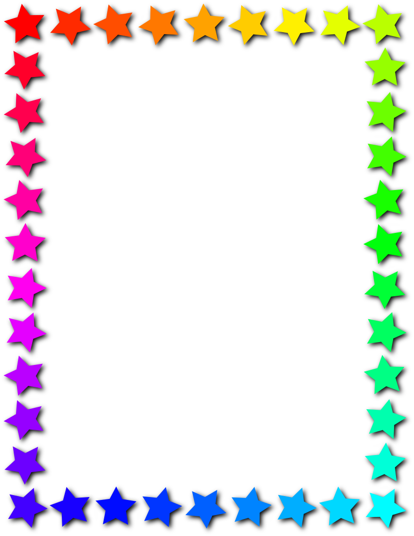 Colorful Star Borders And Frames | www.imgkid.com - The ...