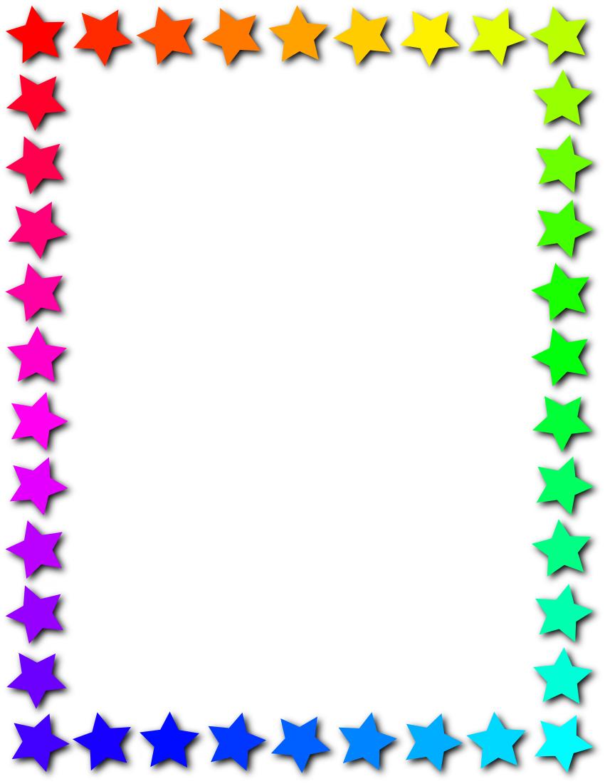 star frame rainbow - /page_frames/star_border/star_frame_rainbow.png ...