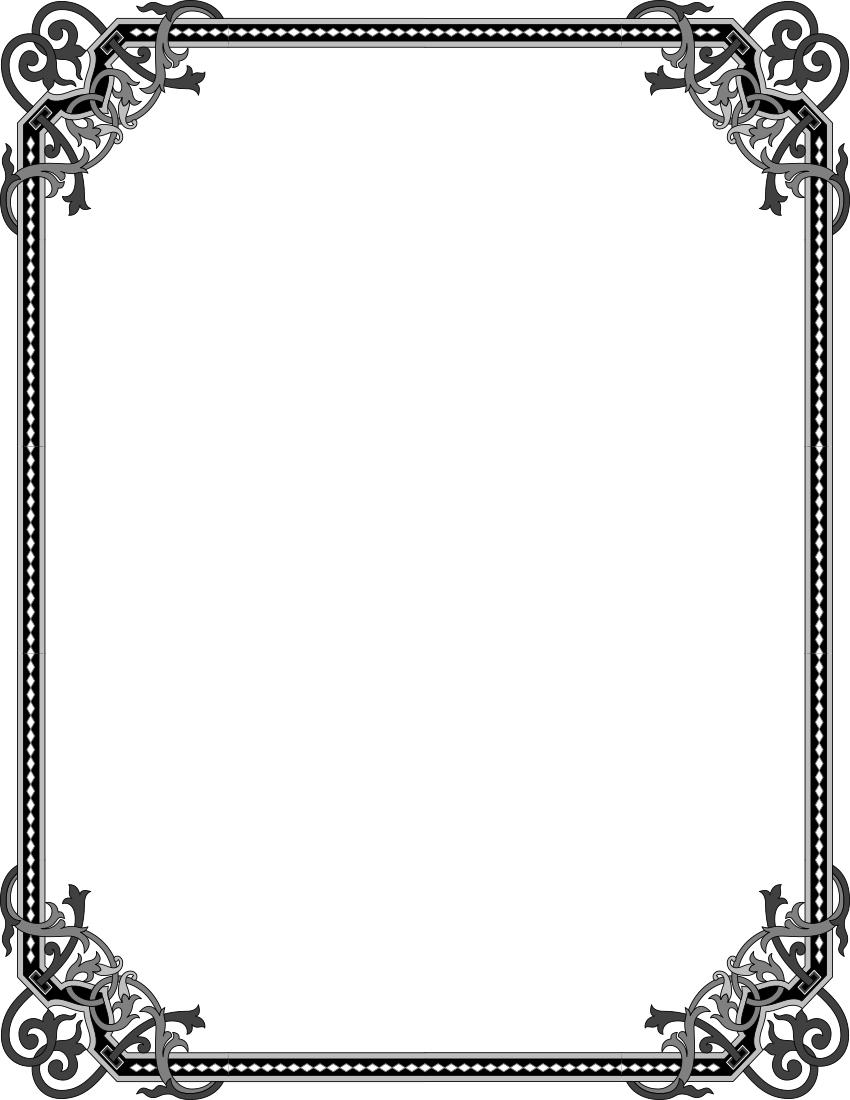 Elegant Gothic Frame Page Frames Vintage Elegant Gothic