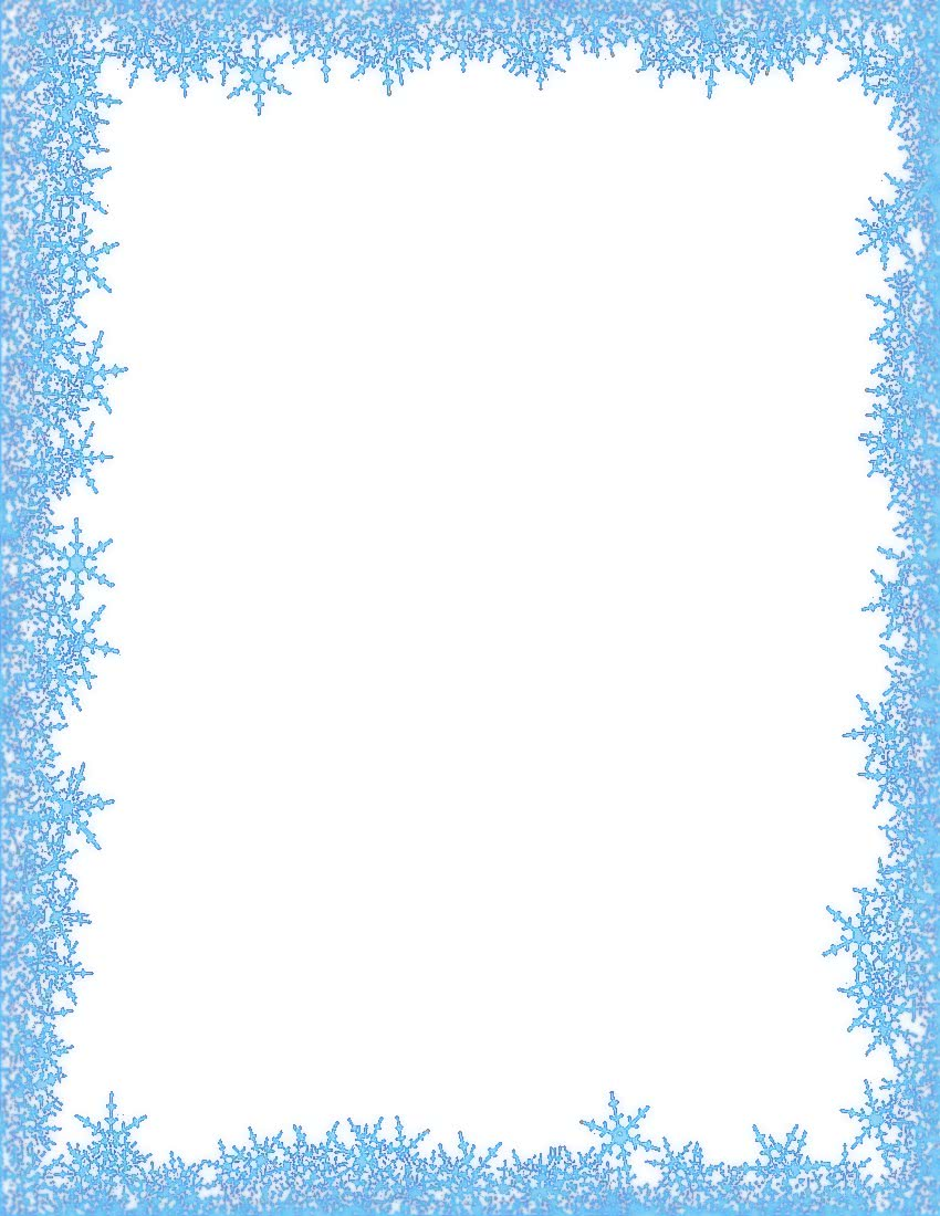 snowflakes border - /page_frames/weather/cold/snowflakes
