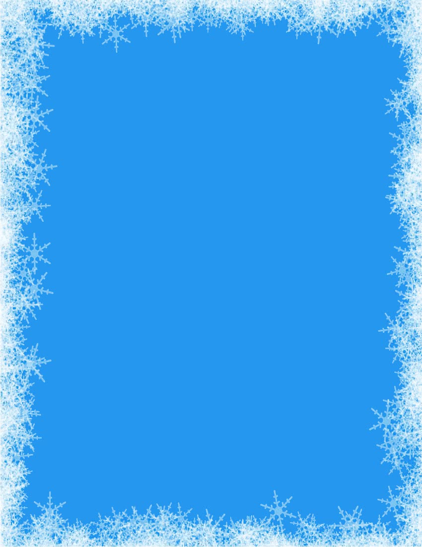 snowflakes border blue - /page_frames/weather/cold ...