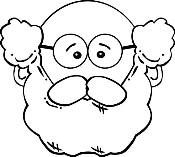 man face beard glasses   people  faces  men faces  mens men clipart images men clipart black