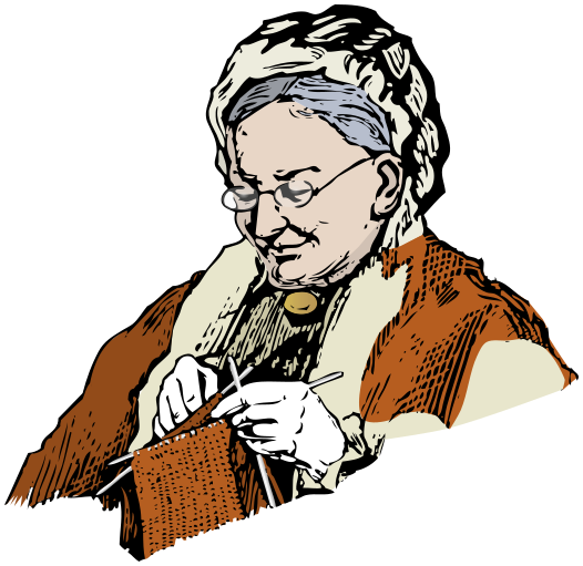 Granny Knitting People Family Grandmother Granny Knitting Png Html