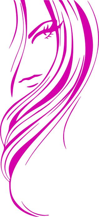 girl hair style purple   people  female  hair style  girl hair salon clip art free hair salon clip art free