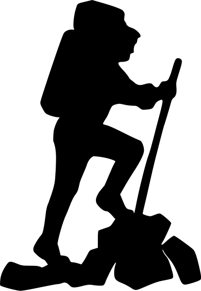hiker silhouette   recreation  camping hiking  hiker  hiker clip art hiking trails clip art hiking trails