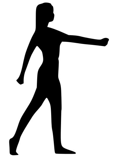 fitness aerobics woman silhouette - /recreation/fitness ...