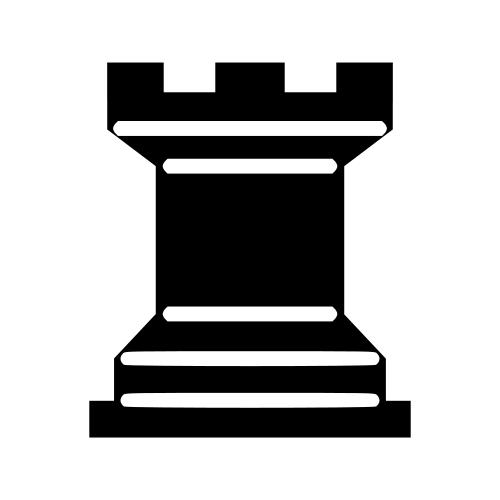 chess piece black rook - /recreation/games/chess/chess_set_1