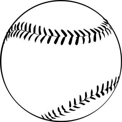 outline baseball ball sports svg recreation formats clipart