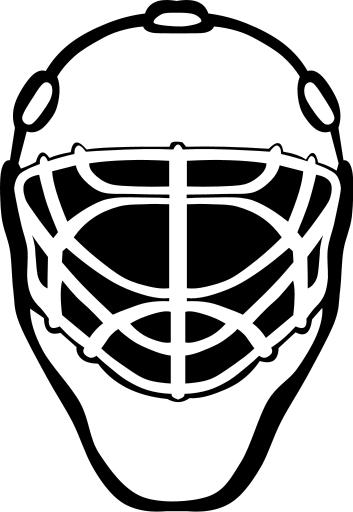 goalie mask simple bw - /recreation/sports/hockey/goalie ...