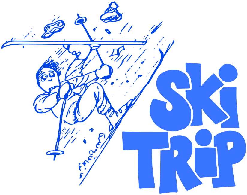 ski trip w words blue recreation sports ski ski 3