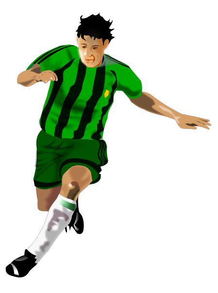 Soccer Player green black