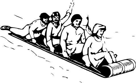 toboggan sledding recreationsportswintertoboggan