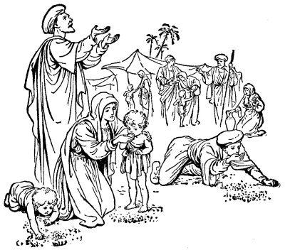 God fed them with Manna religion mythologybiblebible