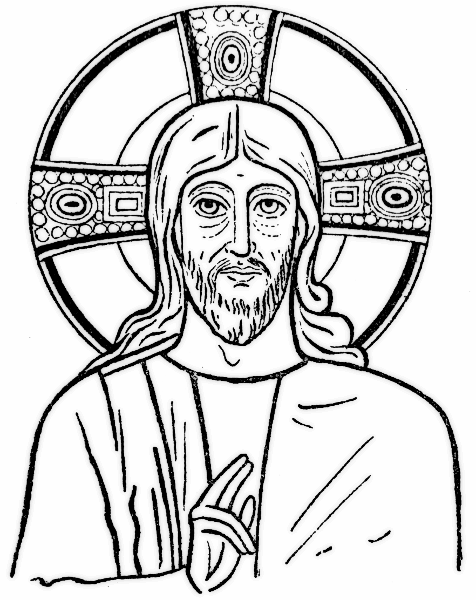 Adult Coloring Page Jesus