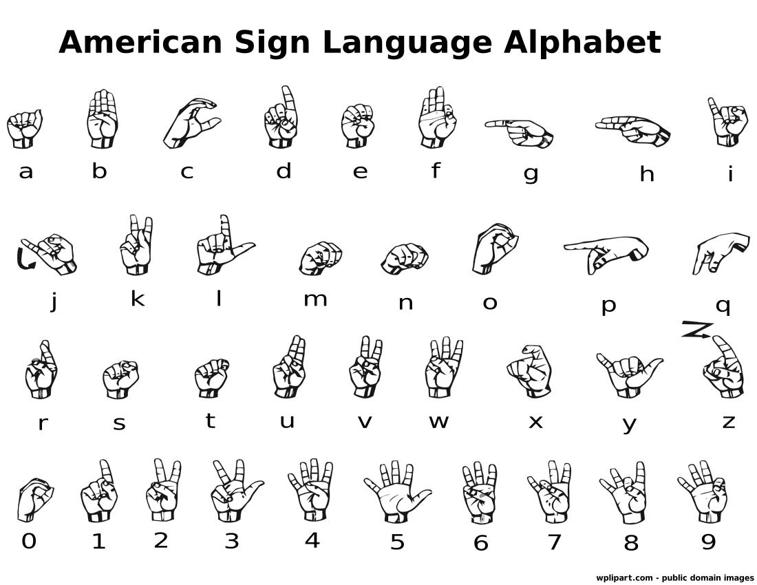 German Sign Language Symbols