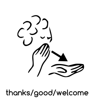 how to say your welcome in sign language