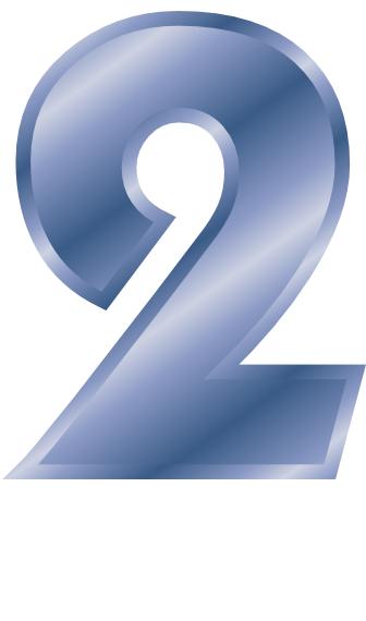 blue steel number 2  signs symbol  alphabets numbers  blue