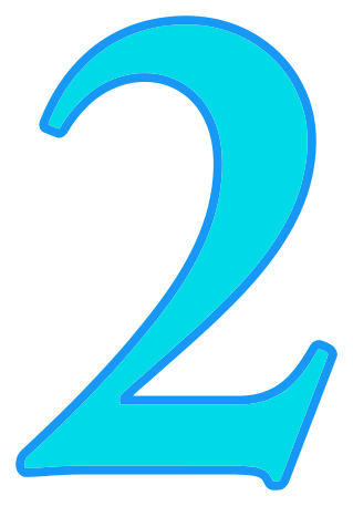number 2 cyan signs symbol alphabets numbers color numbers