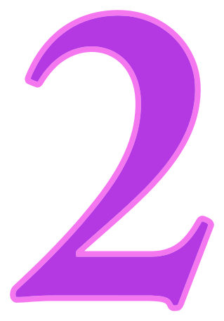 number 2 purple signs symbol alphabets numbers color numbers