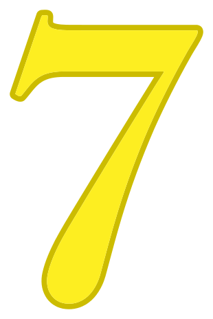 Sweet Number Seven PNG Clipart Image | Gallery Yopriceville ... | 464x310