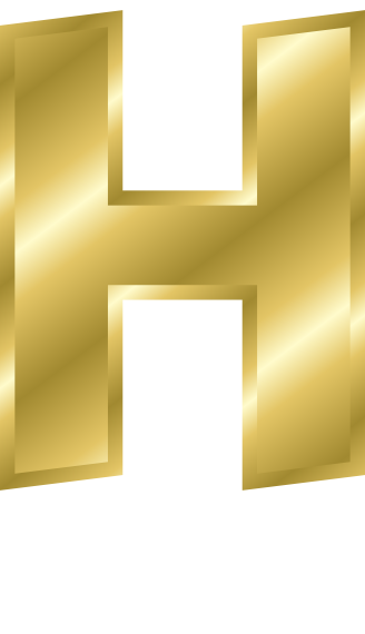 H Letter In Gold gold letter capitol H ...