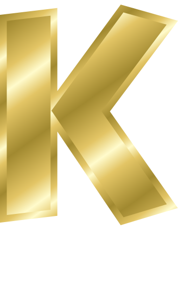 Gold Letter Capitol K Signs Symbol Alphabets Numbers