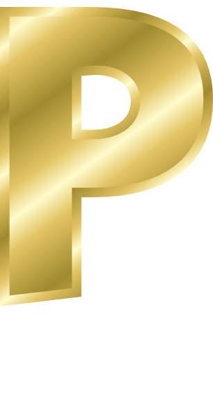 Gold Letter Capitol P