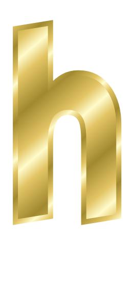 H Letter In Gold gold letter h - /signs...