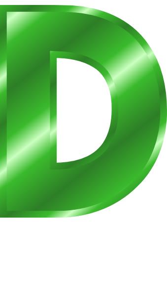 green metal letter capitol d   signs symbol  alphabets letter d clip art on fire fancy letter d clipart