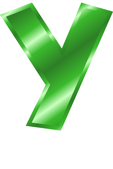 green metal letter capitol y   signs symbol  alphabets yc partners llc yc partner