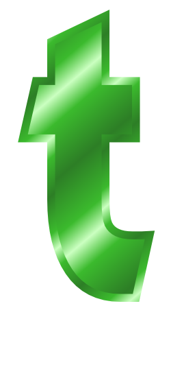 green metal letter t signssymbolalphabetsnumbers