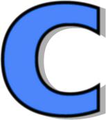 lowercase c blue   signs symbol  alphabets numbers clipart letterhead clip art letters alphabet