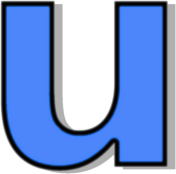 lowercase U blue - /signs_symbol/alphabets_numbers/outlined_alphabet ...