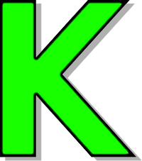 capitol k green   signs symbol  alphabets numbers  outlined alphabet clipart letters free alphabet clipart images